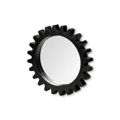 Medium Round Black Casual Mirror (26.1 in. H x 26.1 in. W)