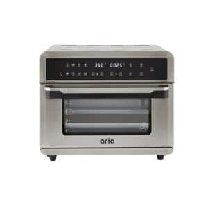 All-in-1 Premium 30 Qt. Stainless Steel Touchscreen Air Fryer Toaster Oven with Recipe Book