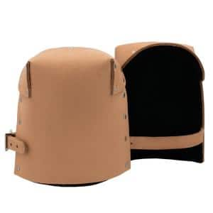 Pro Leather Non-Marring Top Grain Saddle Leather Knee Pads