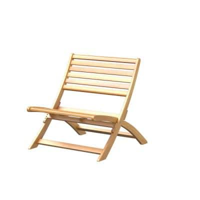 Verso Folding Wood Outdoor Lounge Chair
