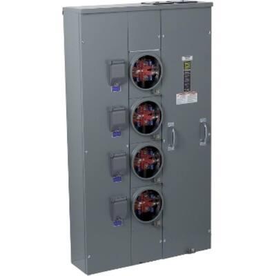 Meter-Pak 200 Amp 4 Gang Ringless Meter Socket