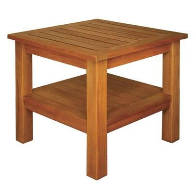 Terrace Mates 2-Shelf High End Square Patio Table