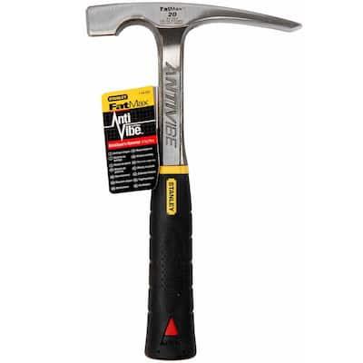 FatMax 20 oz. 11 in. AntiVibe Brick Hammer w/ Rubber Grip Handle