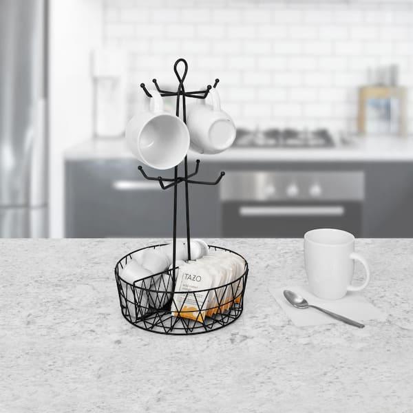 Pinhan Tasses /à caf/é Drain Organisateur Tasse /Él/égante Porte-Fer Arbre pour Cuisine Salon,S