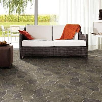 Natural Paver Residential Vinyl Sheet Flooring 12ft. Wide x Cut to Length