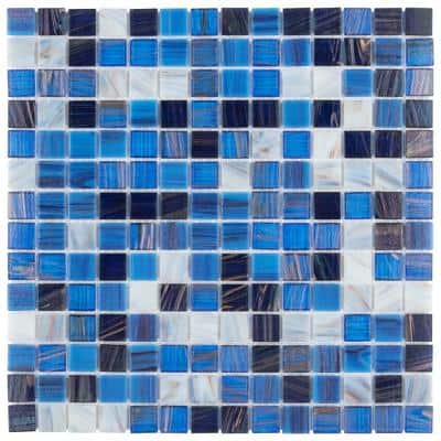 Coppa Marina 12 in. x 12 in. Glass Mosaic Tile (13.27 sq. ft. / Case)