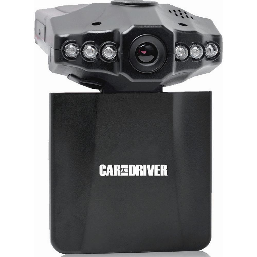 HD Car Dash Cam with Fold Down Screen, Digital Zoom, & LED Nightvision