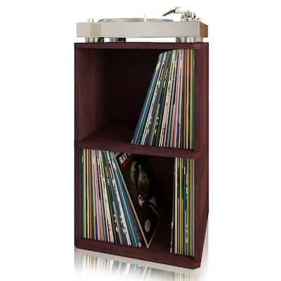 zBoard Espresso 2-Shelf Vinyl Record Storage and LP Record Album Shelf
