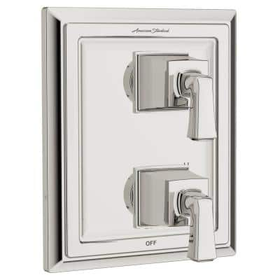 Town Square 2-Handle Wall Mount Diverter Valve Trim Kit in Polished Nickel (Valve Not Included)