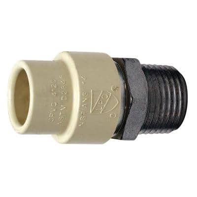 1/2 in. x 1/2 in. CPVC CTS Slip Stainless Steel MPT Adapter