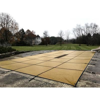 20 ft. x 40 ft. Solid Tan Rectangle Inground Pool Safety Cover