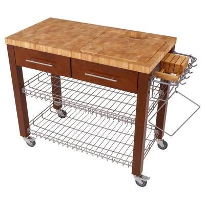 Chef Series Espresso Kitchen Cart with Basket
