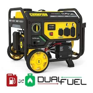 4550/3650-Watt Electric Start Gas and Propane Dual Fuel Powered RV Ready Portable Generator