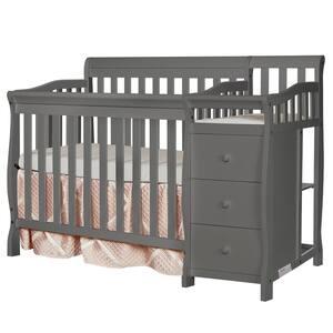 Jayden 4-in-1 Steel Grey Mini Convertible Crib And Changer