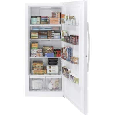 Garage Ready 21.3 cu. ft. Frost-Free Upright Freezer in White, ENERGY STAR