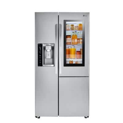 26.0 cu. ft. Side by Side Smart Refrigerator with InstaView Door-in-Door & Wi-Fi Enabled in Stainless Steel