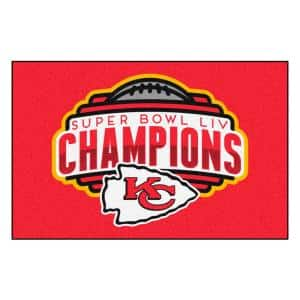 NFL - Kansas City Chiefs Red Super Bowl LIV Champions Accent Rug 19'' x 30''