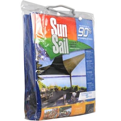 11.8 ft. Heavy-Duty Triangle Sun Sail Garden Sun Shade Canopy Fabric in Blue