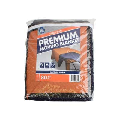 80 in. L x 144 in. W Extra-Large Premium Moving Blanket (2-Pack)