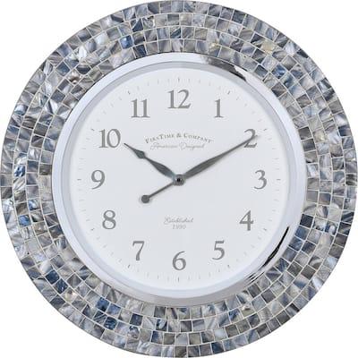 Vivien Blue Pearl Mosaic Clock