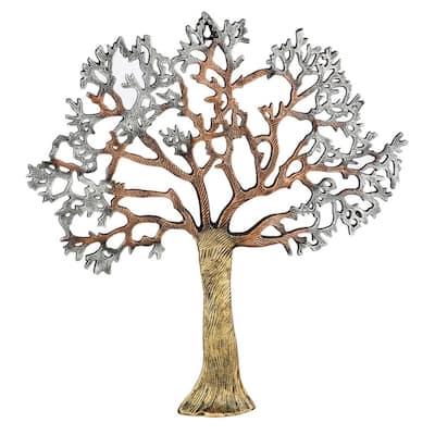 Metallic Tree Outdoor Metal Wall Art