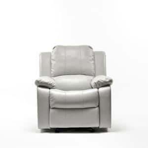 Clifton Dove Faux Leather Recliner