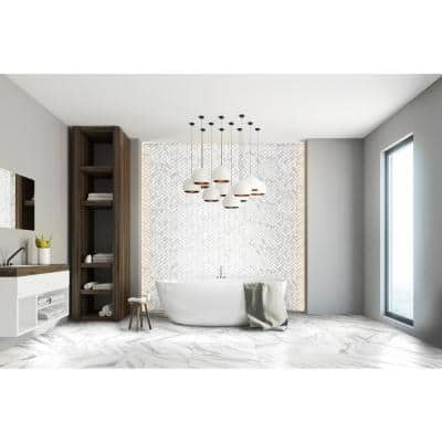 Avante Bianco White 3 in. x 24 in. Porcelain Floor and Wall Bullnose Tile (6 sq. ft./Case)