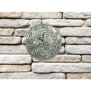 Silver Metallic Indoor or Outdoor Terra Cotta Clock