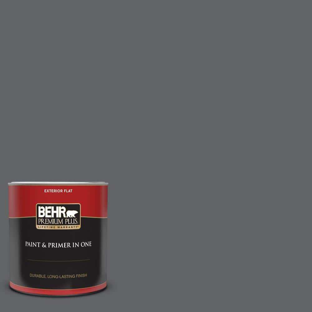 Behr Premium Plus 1 Qt N530 6 Digital Flat Exterior Paint And Primer In One 430004 The Home Depot