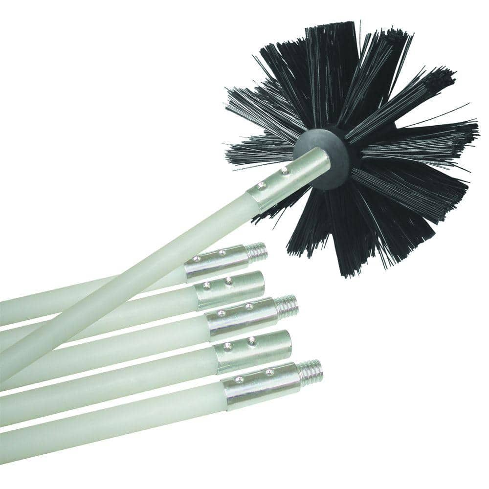 Flexible Dryer Vent Cleaning Kit Lint Remover Extends up to 24 Feet 12-feet