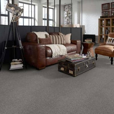 Willow  - Color Grey 12 ft. Texture Carpet