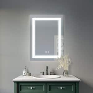 Orida 24 in. W x 32 in. H Frameless Rectangular Luxury LED Light with Bluetooth Sound Bathroom Vanity Mirror