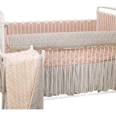 Tea Party Cotton Front Crib Rail Cover Up