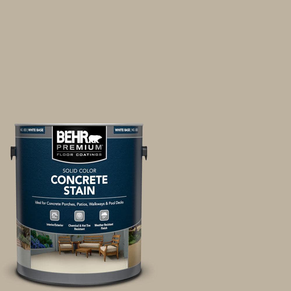 BEHR PREMIUM 1 gal. #PFC-32 Spanish Parador Solid Color Flat Interior/Exterior Concrete Stain