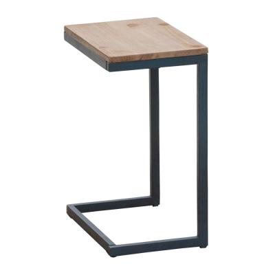 Everleigh Antique C-Shaped Outdoor Accent Table