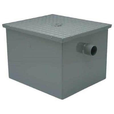 11 in. x 11 in. Steel Grease Trap with 2 in. No-Hub Inlet