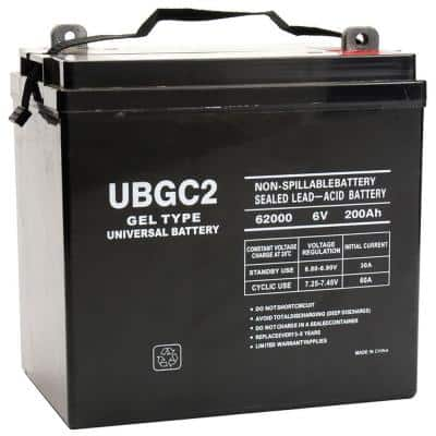 6-Volt 200 Ah L5 Terminal Sealed Lead Acid (SLA) GEL Rechargeable Battery