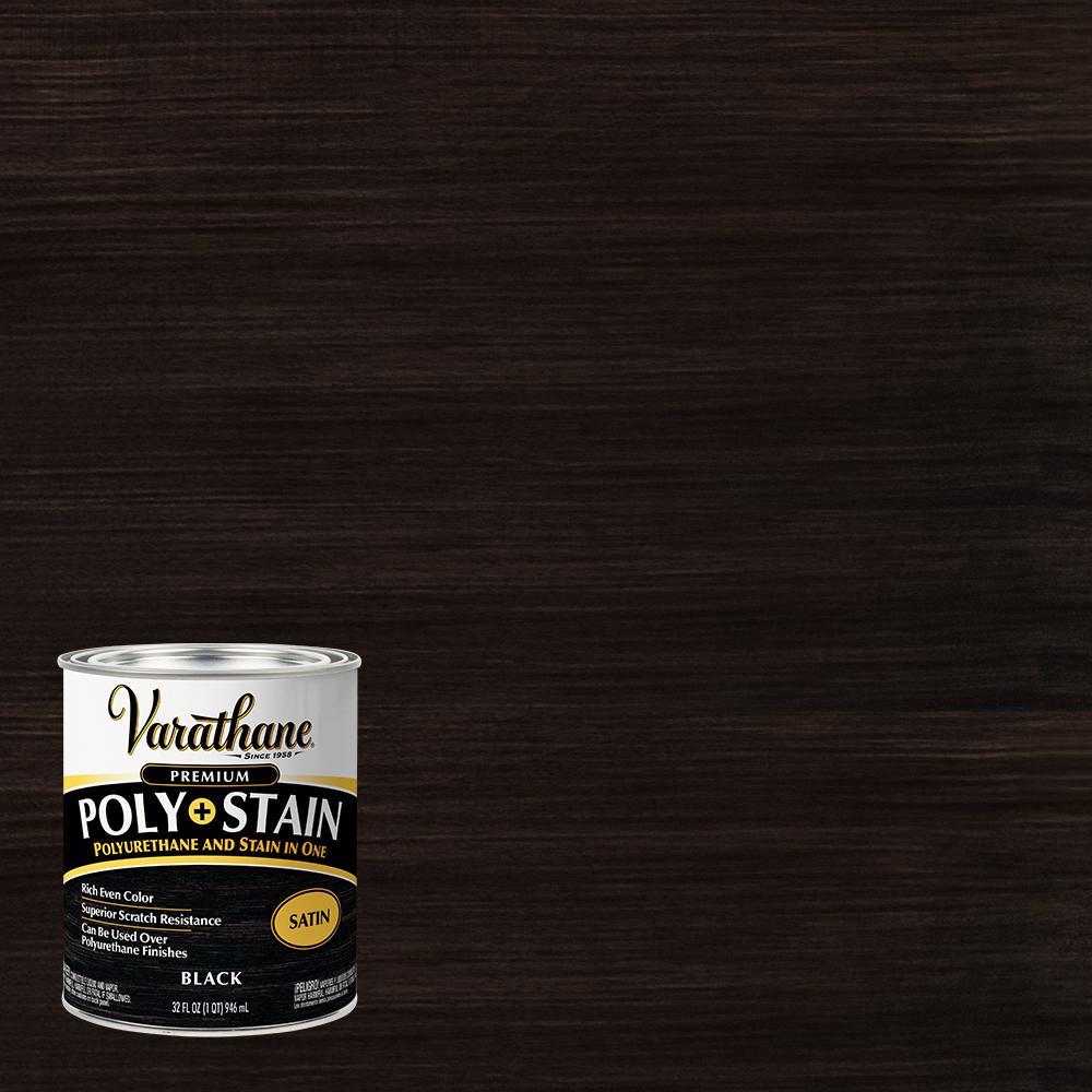 1 qt. Black Satin Oil-Based Interior Stain and Polyurethane