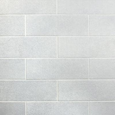 Piston Camp White 4 in. x 12 in. 7mm Matte Ceramic Subway Wall Tile (34-piece 10.97 sq. ft. / box)