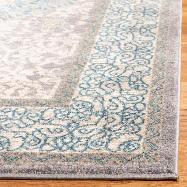 Safavieh Sofia Light Gray Blue 9 Ft X 12 Ft Area Rug Sof365a 9 The Home Depot