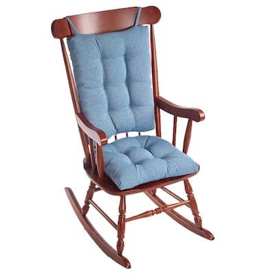 Gripper Saturn Blue Jumbo Rocking Chair Cushion Set