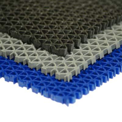 S-Grip Blue 3/16 in. x  4 ft. x 25 ft. PVC Drainage Mat