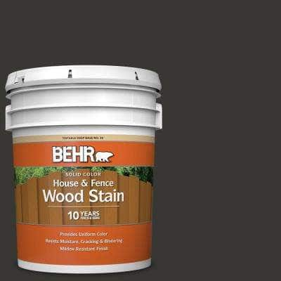 5 gal. Black Solid Color House and Fence Exterior Wood Stain