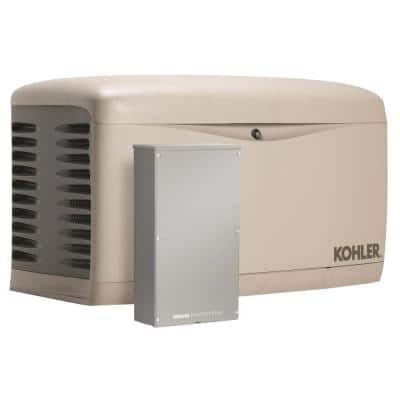 20,000-Watt Air Cooled Standby Generator with 200 Amp Service Entrance Rated Automatic Transfer Switch and Load Shedding