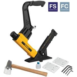 2-in-1 Pneumatic 15.5-Gauge and 16-Gauge Flooring Tool