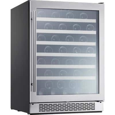 Presrv 24 in. 53-Bottle Wine Beverage Cooler with Single Temperature Zone and 39 dBA