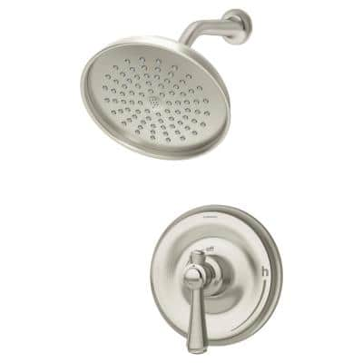 Degas 1-Handle Shower Faucet Trim Kit in Polished Chrome (Valve Not Included)