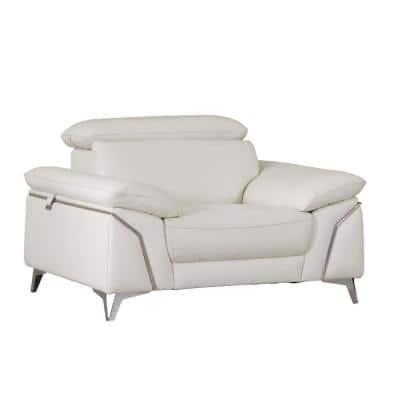 Charlie Fashionable White Leather Chair