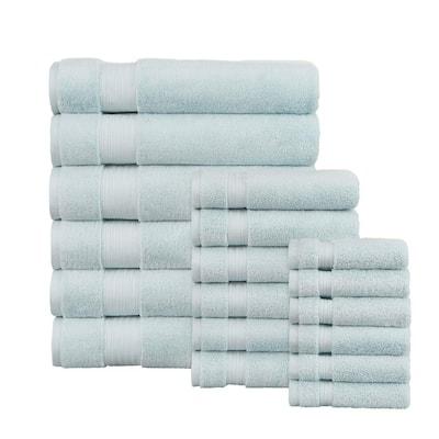 Egyptian Cotton 18-Piece Bath Sheet Towel Set in Raindrop
