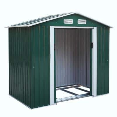 7 ft. W x 4.2 ft. D Outdoor Metal Storage Shed Tool Organizer for Backyard Garden with Sliding Door(29.4 sq. ft.)